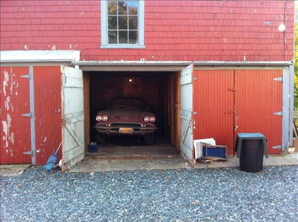 1962 Corvette In The Barn