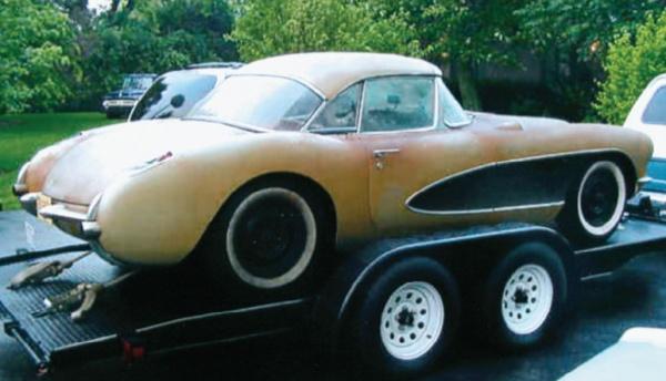 1957 Corvette headed home