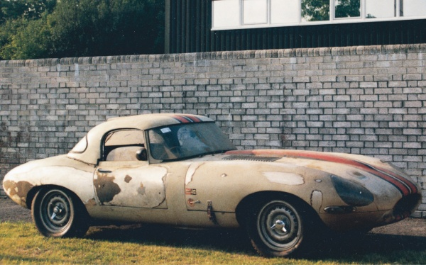 This rare and missing Jaguar Lightweight E-Type was discovered in a San Francisco garage. The car had only competed in two races—the 1963 Sebring twelve-hour event and a SCCA race at Laguna Seca before it was parked with only 2,663 miles on it.