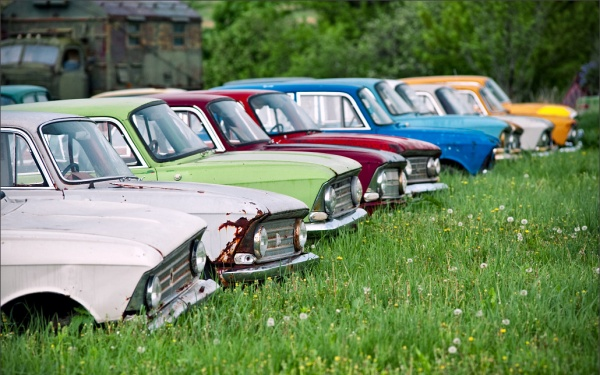 Surprisingly Colorful Russian Cars