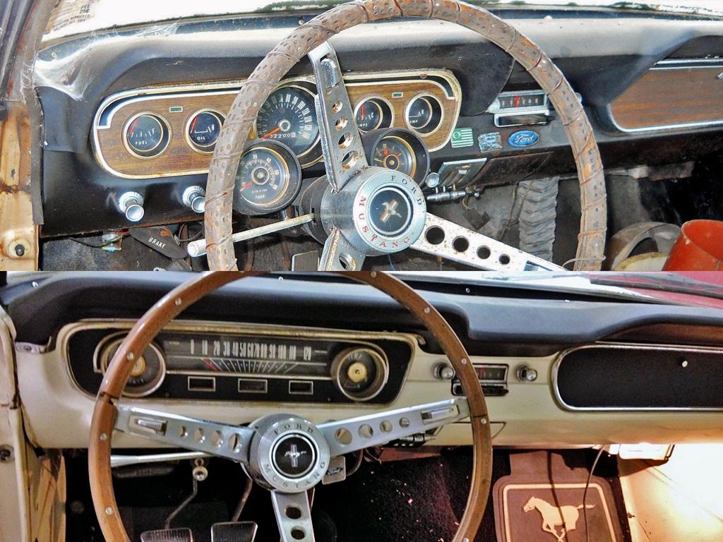 Mustang Comparison - interiors