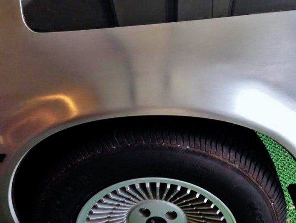 Stainless DeLorean Fender