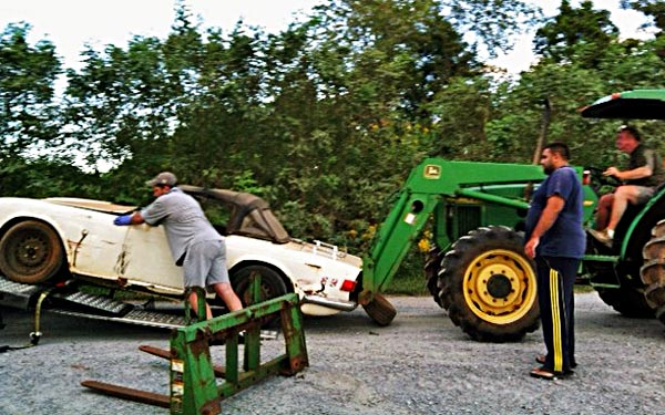 Loading the TR6 up
