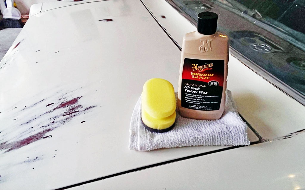 Waxing the Mustang
