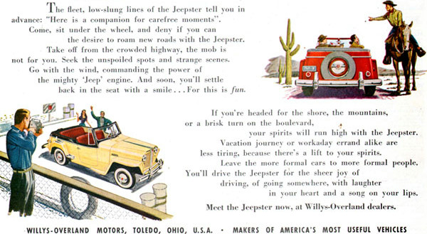 Jeepster Ad