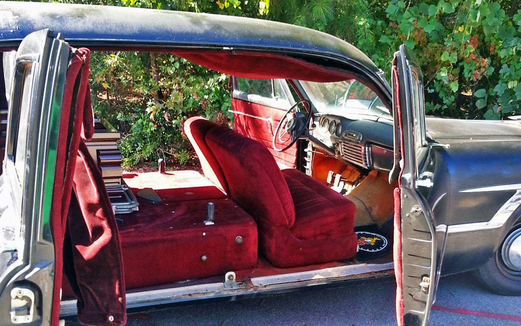 Packard Hearse Interior
