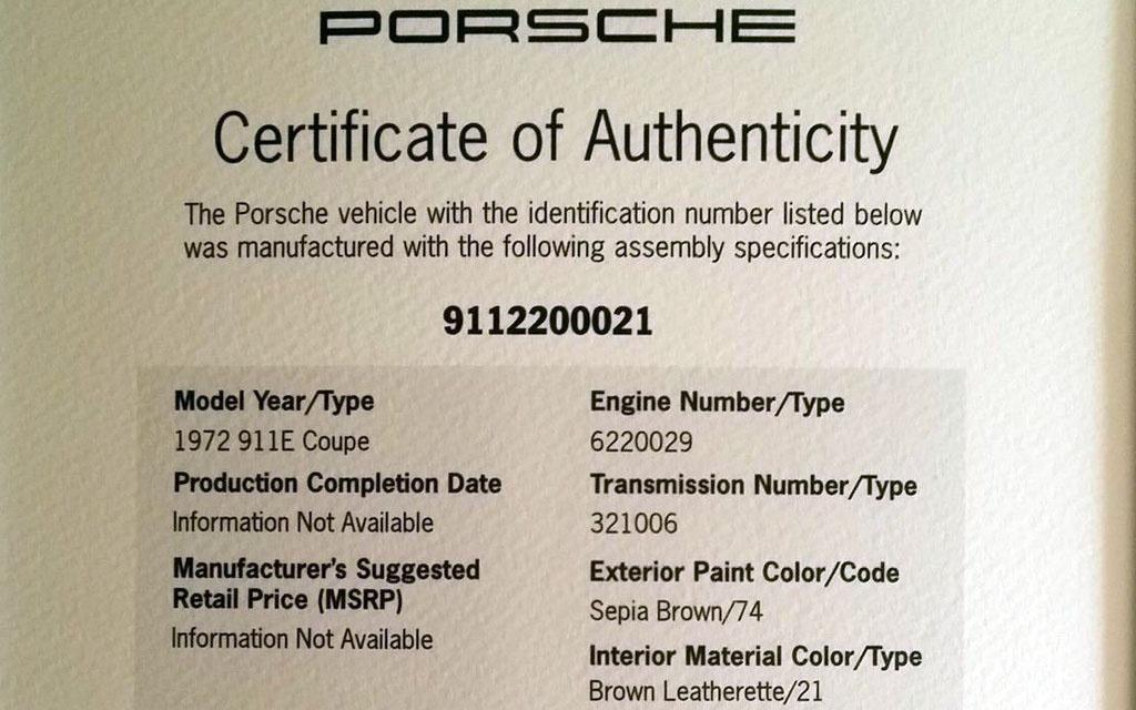 Porsche Authenticity