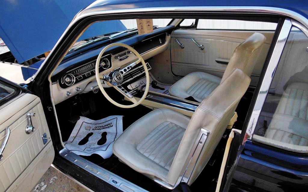 1965 Mustang With White Interior