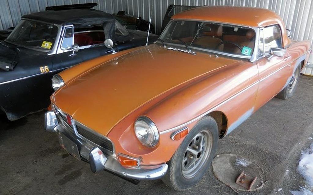 Orange 1974 MGB