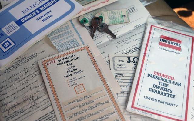 1976 Buick Regal Paperwork