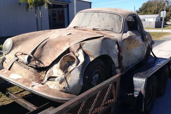 Wrecked 1963 Porsche 356B