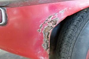 1969 Jaguar XKE Rust Spot