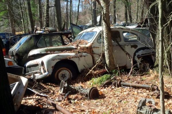 junkyard Volvo