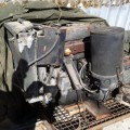 Used 3 cylinder Detroit diesel engine, said to be in excellent condition, w/auto trans attached.