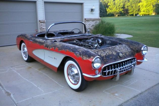 Charred 1957 Corvette