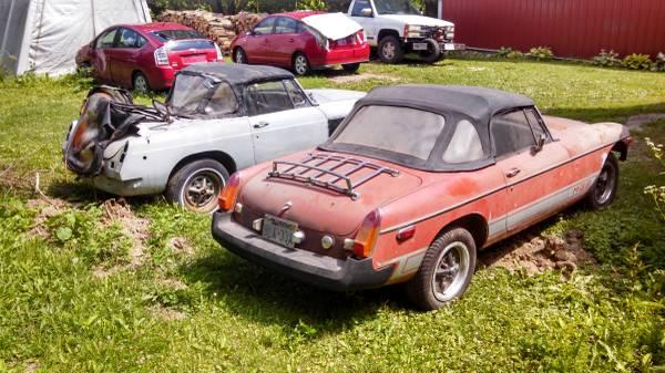Pair of 1975 MGBs
