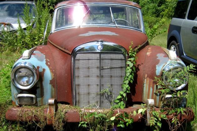 Roadside 1951 Mercedes 300