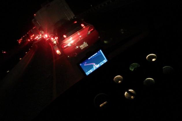 UltraVan Caught in traffic