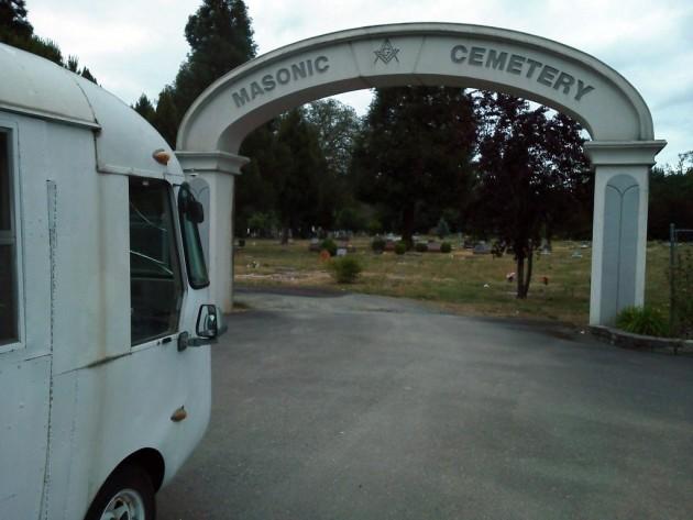 UltraVan at a Masonic Cemetery