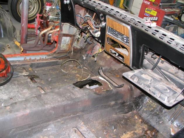 Camaro rusty floors
