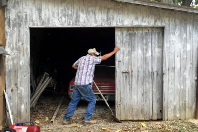 Opening the barn