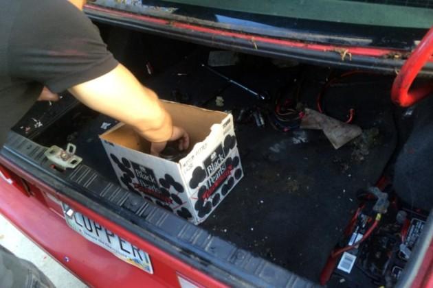 BMW M3 E30 trunk