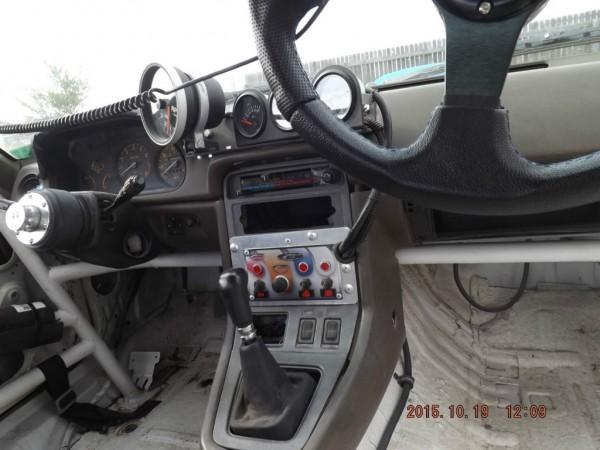 Mazda RX 7 race car dash