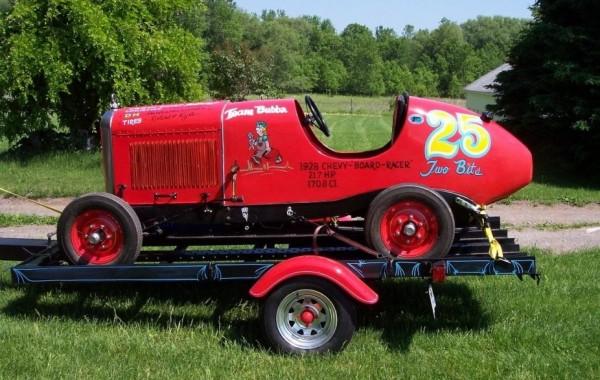 '29 Racer on custom trailer