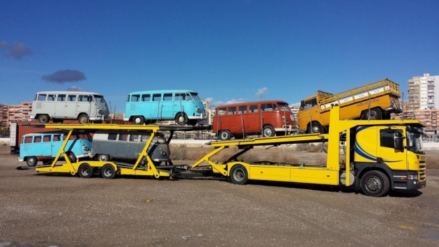 Truckload of VW Buses