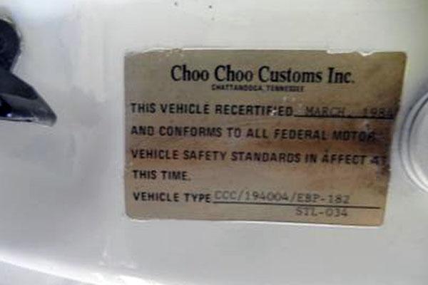 1984 Choo Choo Door Tag