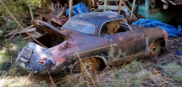 '55 356 barn pulled