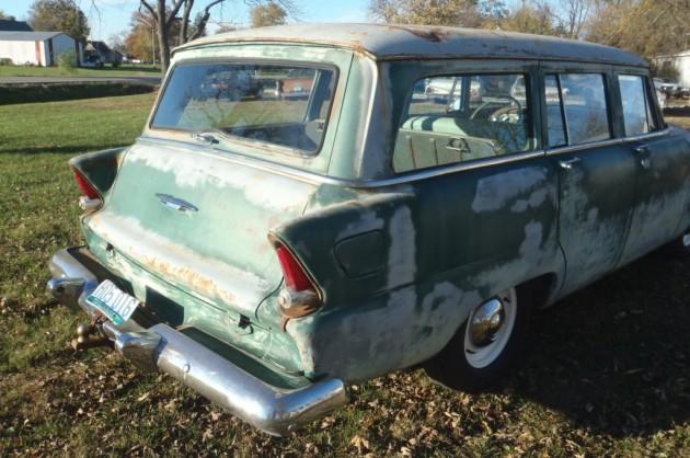 '55 PLYMOUTH PLAZA wagon rear right