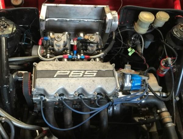 '83 Ford EXP race car engine