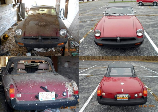 1980 MGB Before and After
