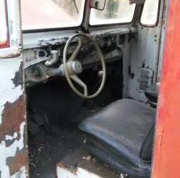 2nd '67 IH ambulance int.