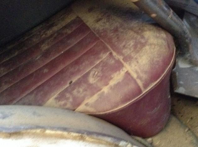 '58 Triumph 4 dr back seat