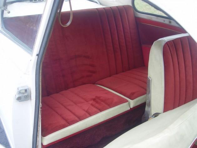 '66 Saab back seat