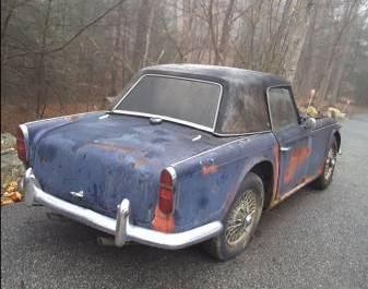 '67 TR4 rear right