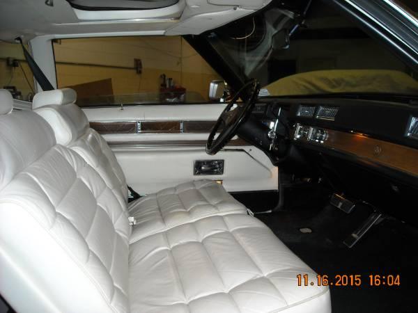 '75 Cadi front seats