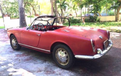 1962 Alfa Romeo Giulietta Spider Veloce Project