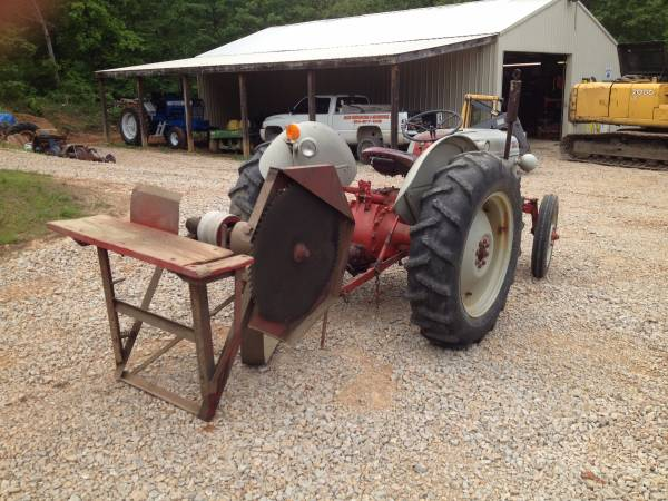 '49 Ford 8N rear with saw