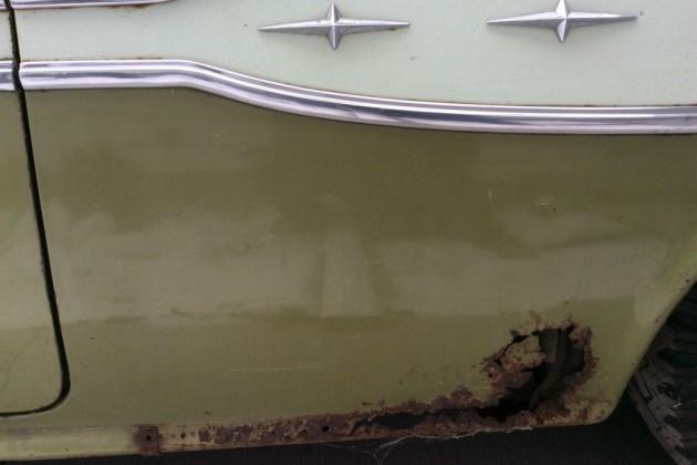 '57 Pontiac Star Chief Safari rust left side