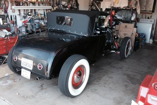 Hot Rod in garage