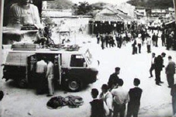 1966 Cinemobile on set