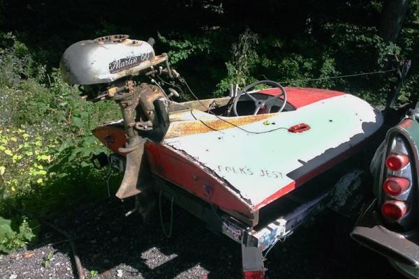 031116 Barn Finds - 1950s Hydroplane boat 2