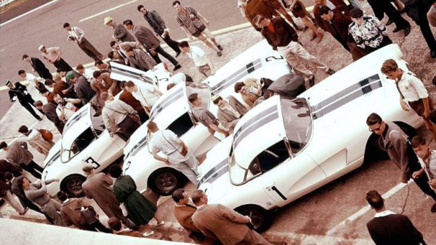 Cunningham Corvettes At Le Mans