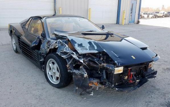 Wrecked Exotic 1987 Ferrari Testarossa Barn Finds