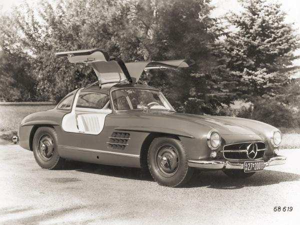 Vintage Photo of 1957 Mercedes-Benz 300SL Gullwing